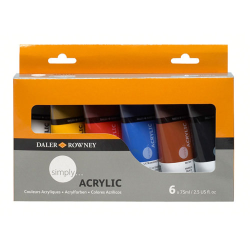 5011386064093 - 126 500 025 - Simply Acrylic Colour Set 6x75ml