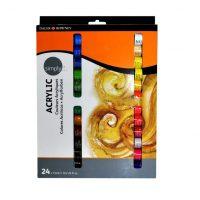 5011386073897 - 126 500 024 - Simply Acrylic Colour Set 24x12ml
