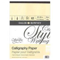 Bloc ideal pentru scriere caligrafica. Hartie de 90g, 30 coli, format A3. Produs fabricat in Anglia, marca Daler Rowney.