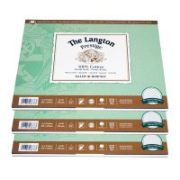 "Bloc acuarela gumat The Langton Prestige Block Not 12 coli, format A4 9x12"""