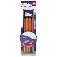 Set 9 creioane pentru desen si schite Daler Rowney cu DVD instructiuni de folosire