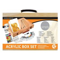 Set complet 27 piese culori acrilice in cutie de lemn Daler-Rowney