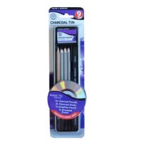 Simply Pencil Charcoal 9 Piece Tin Set