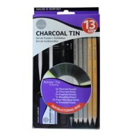 Simply Pencil and Charcoal 13 Piece Tin