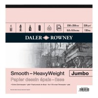 Bloc de desen Jumbo Smooth Heavyweight cu 60 de coli format 25 x25 cm