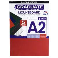 Carton Passpartout A2 Daler-Rowney diverse culori