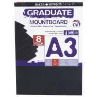 Carton Passpartout A3 negru