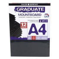 Carton Passpartout Daler-Rowney A4 negru