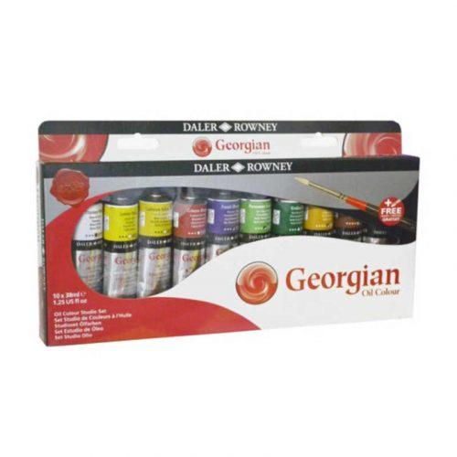 Set-culori-ulei-Georgian-Studio-Set-10x-38ml-+-pensula