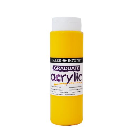 5011386063270 - 123 500 618 - Graduate Acrylic Colour 500ml Cadmium Yellow Deep Hue