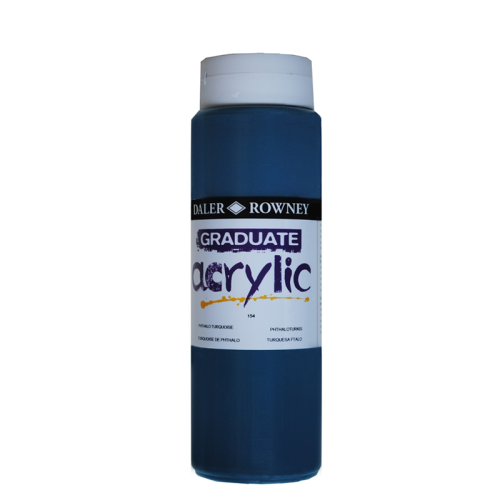5011386063348 - 123 500 154 - Graduate Acrylic Colour 500ml Phtalo Turquoise
