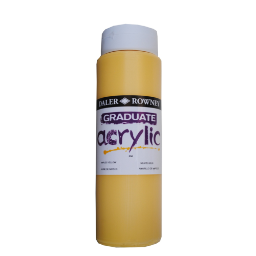 5011386063393 - 123 500 634 - Graduate Acrylic Colour 500ml Naples Yellow