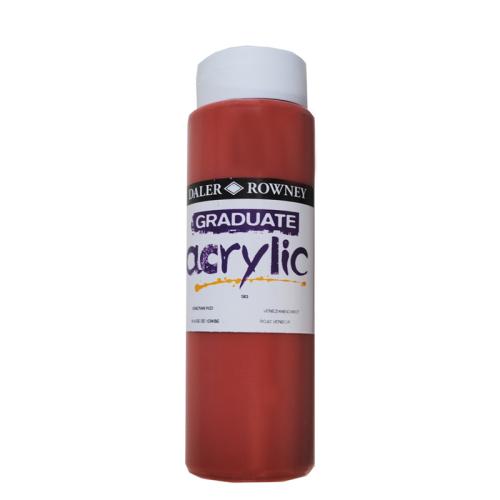 5011386063409 - 123 500 583 - Graduate Acrylic Colour 500ml Venetian Red