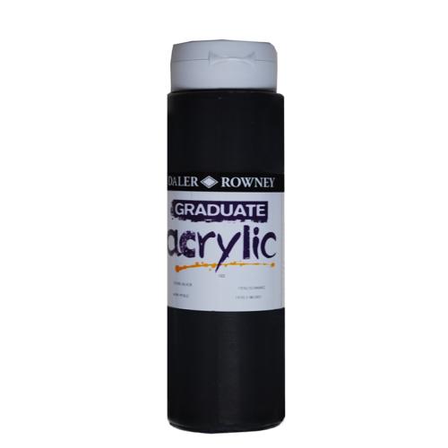 5011386063423 - 123 500 032 - Graduate Acrylic Colour 500ml Pearl Black