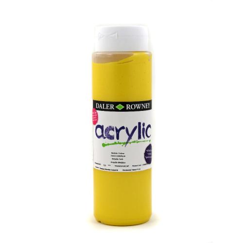 5011386077659 - 123 500 723 - Graduate Acrylic Colour 500ml Metallic Yellow
