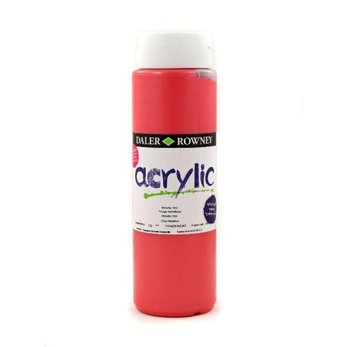 5011386077666 - 123 500 720 - Graduate Acrylic Colour 500ml Metallic Red