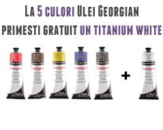 5 culori ulei plus titanium white gratuit