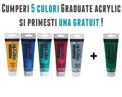 5 plus 1 gratis culori acrilice