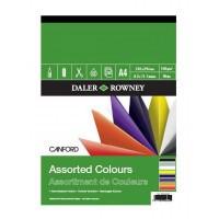 Bloc hartie colorata in 8 culori Canford Assorted Colours 150g, A3 si A4