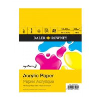 5010000000000 - 403 600 500 - System 3 Acrylic Paper Pad 230gsm A5 - LOW