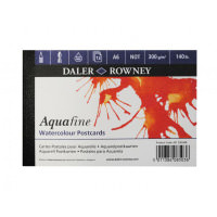 5010000000000 - 431 230 600 - Aquafine Watercolour Postcards Pad NOT Cold Pressed 300gsm A6 - LOW