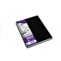 Bloc schite cu spira Sketchbook Simply Soft White 54 de coli format A5 ideal pentru grafica