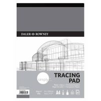 Bloc hartie calc Simply Tracing Pad 60gsm A4 proiect