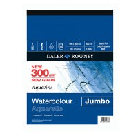5010000000000 - 403 660 071 - Aquafine Watercolour Jumbo Pad NOT Cold Pressed Grain Fin 300gsm 16x12in - MED