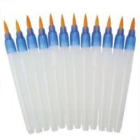 Set 12 pensule cu rezervor BKFLO-12LG pentru acuarela