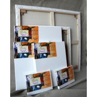 Panze dreptunghiulare de bumbac pe sasiu Rafaelo pentru pictura