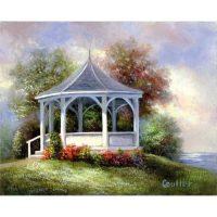 Set-pictura-panza-pe-sasiu,-Royal-Langnickel,-Tablouri-celebre,-07---Lakeside-Gazebo