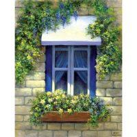 Set pictura panza pe sasiu, Royal Langnickel, Tablouri celebre, 08 - European Window