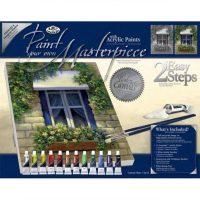 Set pictura panza pe sasiu, Royal Langnickel, Tablouri celebre, 08 - European Window2
