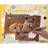 Set-pictura-pe-numere,-Royal-Langnickel,-26---African-Lioness-&-Cubs-2