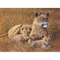 Set-pictura-pe-numere,-Royal-Langnickel,-26---African-Lioness-&-Cubs