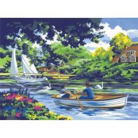 Set-pictura-pe-numere-adulti,-Royal-Langnickel,-08---Boating-on-the-River2