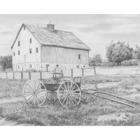 Set de schite pe numere Royal and Langnickel Sketching - Country Wagon