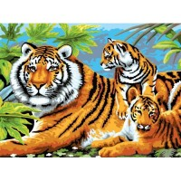 painting-by-number-junior-large-tiger-and-cubs