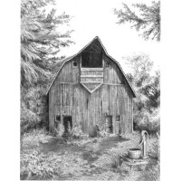 Set de schite pe numere Royal and Langnickel Sketching Set - Old Country Barn 24 cm x 33 cm