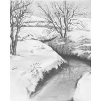 Set de schite pe numere Royal and Langnickel Sketching - Winter Creek