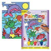 Set pictura pe numere pentru copii, MFP06 Animale Marine