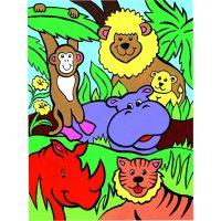Set pictura pe numere pentru copii, MFP09 Animalele junglei
