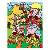 Set-pictura-pe-numere-pentru-copii,-MFP12-Purcelusii-&-Lupul