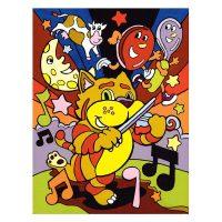 Set-pictura-pe-numere-pentru-copii,-MFP13-Pisicuta-muzicanta