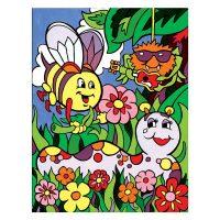 Set-pictura-pe-numere-pentru-copii,-MFP14-Insectele-vara