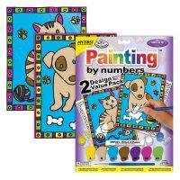 Set-pictura-pe-numere-pentru-copii,-MFP201-Pisica-&-Catelus,-Duo-Pack