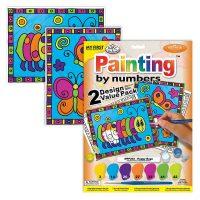 Set-pictura-pe-numere-pentru-copii,-MFP202-Insecte-fericite,-Duo-Pack