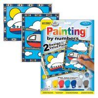 Set pictura pe numere pentru copii, MFP205 Avion & Elicopter, Duo Pack