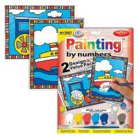 Set pictura pe numere pentru copii, MFP206 Tren & Barca, Duo-Pack