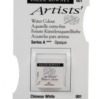 acuarela - 130 015 001 - Artists Watercolour Half Pans Chinese White